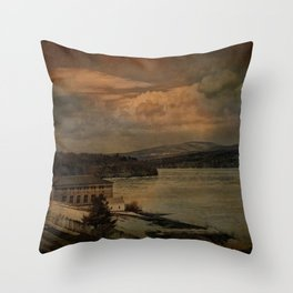 Changing Seasons at The Rondout Throw Pillow