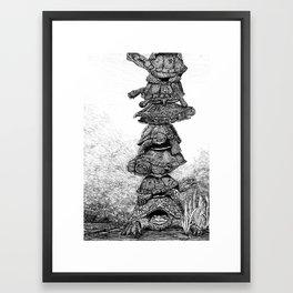 Mack the Turtle Framed Art Print