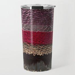 Grid Stripes Travel Mug