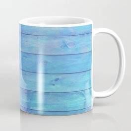 phthalo blue distressed stained painted wood board wall Coffee Mug