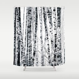Birch Trees In Winter Shower Curtain