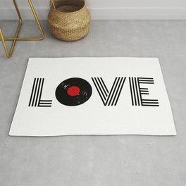 Vinyl record love Rug