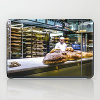 baking iPad Cases featuring Baking the alligator bread by Stu Naranch