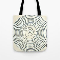 tree rings Tote Bags featuring Tree Rings by Chase