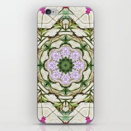 Orchids And Stone Wall Kaleidoscope 1764 iPhone Skin