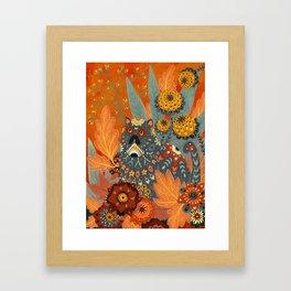 Foliage Cat Framed Art Print