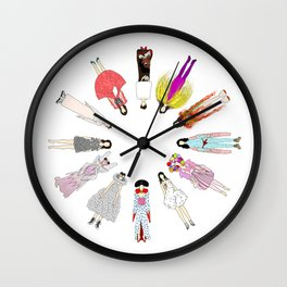 Outfits of Bjork Fashion Wall Clock