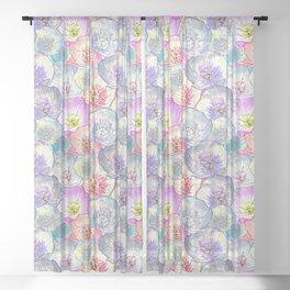 Evening Primroses Sheer Curtain