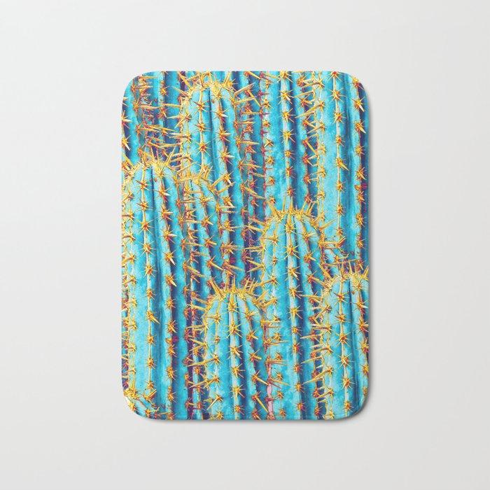 Neon Gold Cactus Bath Mat
