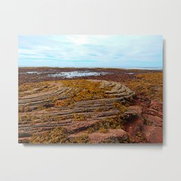 Textured Shoreline Metal Print