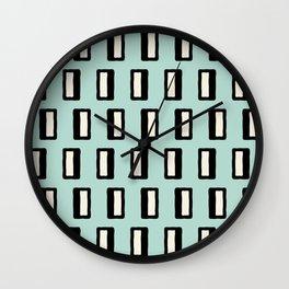Chad Pattern mint green 2 Wall Clock