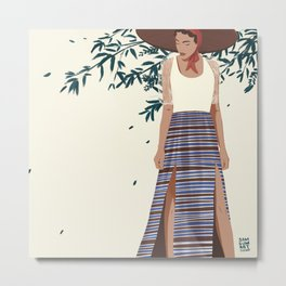 Modern Filipina Farm Girl  Metal Print