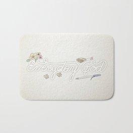 Everyday God (flowers version) Bath Mat