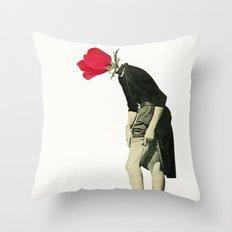 Hello Flower Throw Pillow