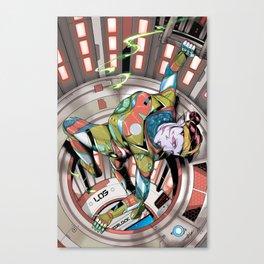 Cera closes the hatch Canvas Print