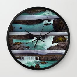 Goðafoss (Waterfall of the Gods) in Northern Iceland Wall Clock