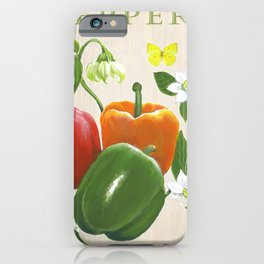 Peppers and their Blossoms iPhone Case