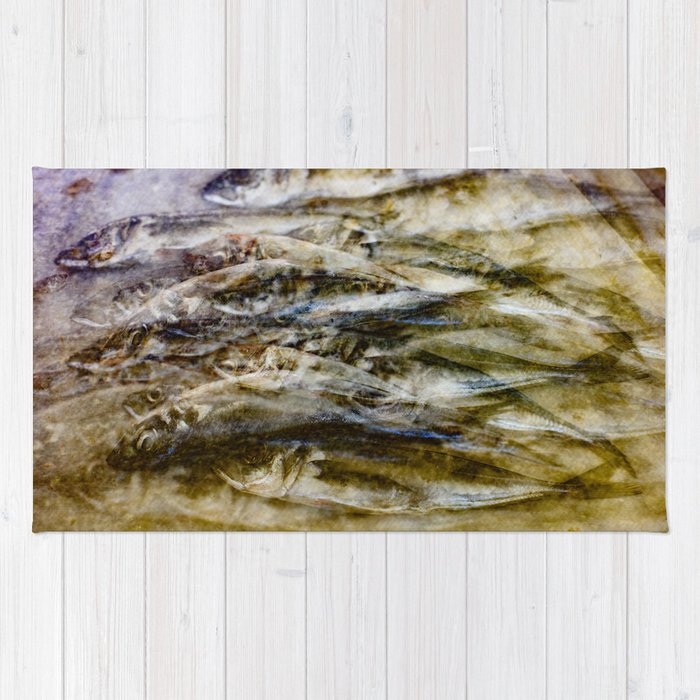 Sardines 2 Rug By Janehobson