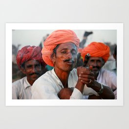 Rajasthani turbans, India Art Print