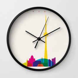 Shapes of Toronto. Accurate to scale Wall Clock