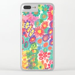 Summer Flower Blossom Garden Clear iPhone Case