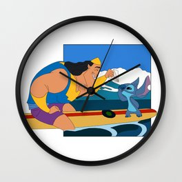 Surfs Up Crossover Style Wall Clock