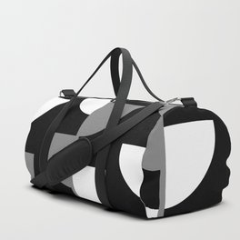 Climbing High - Grey and White on Black - Slices series Duffle Bag