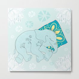 sweet elephant dreams Metal Print