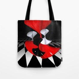 polynomails on harlekin - patterned plane Tote Bag