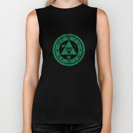 Zelda Green Art Triforce Biker Tank