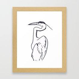 Heron in Profile Framed Art Print