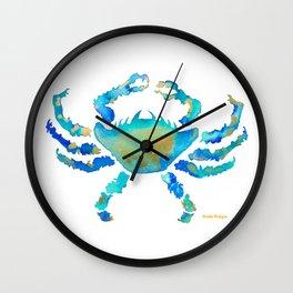 Craggy Blue Crab Wall Clock