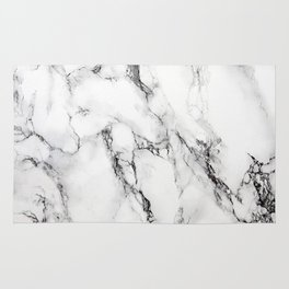 White Marble Texture Rug