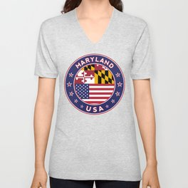 Maryland, Maryland t shirt, Maryland sticker, Maryland Poster Unisex V-Neck