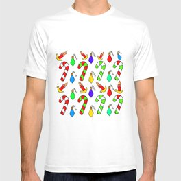 Christmas Lights, Candy Canes and Candles T-shirt