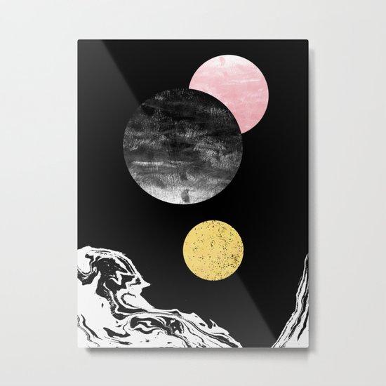 Celeste - space modern minimal abstract painting art urban brooklyn new york los angeles design Metal Print