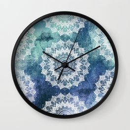 BOHOCHIC MANDALAS IN BLUE Wall Clock