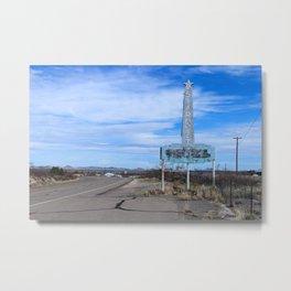 Stardust Motel in Marfa, Texas Metal Print