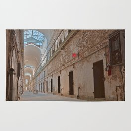 Abandoned Prison Corridor Rug
