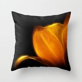 Fireblossom Throw Pillow