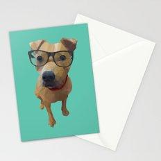 Kane the Staffie Dog Polygon Art Stationery Cards