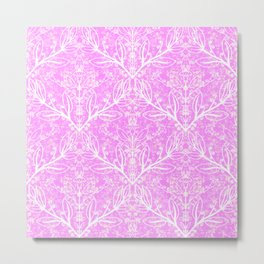 The Pink Lace Divide Metal Print