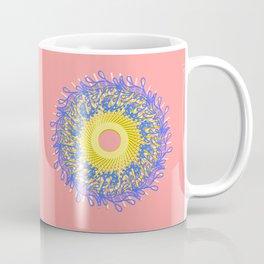Mandala #105, Peach and Sunshine Coffee Mug