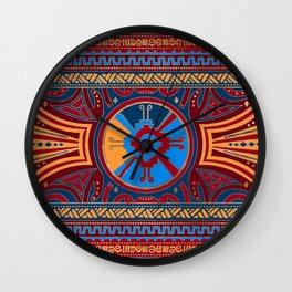 Colorful Hunab Ku Mayan symbol #3 Wall Clock