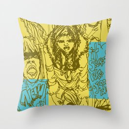 Mal y de Malas Throw Pillow