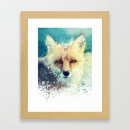 fox / splatter Framed Art Print