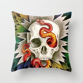 slithers&spikes Throw Pillow
