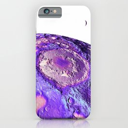 Moon Surface Lavender iPhone Case