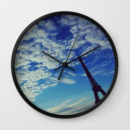 Cloudy sunrise in Paris - Fine Arts Travel Photography Wall Clock