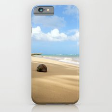 Loquillo Beach Photography - Turquoise Ocean, Blue Sky, Warm Golden Sand iPhone 6s Slim Case